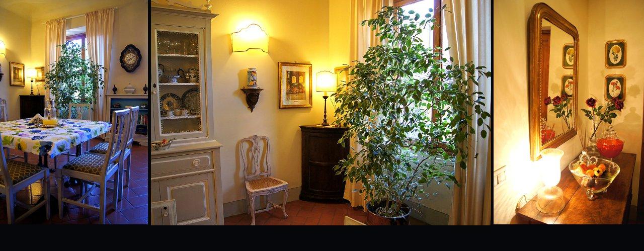 sala colazioni e ingresso